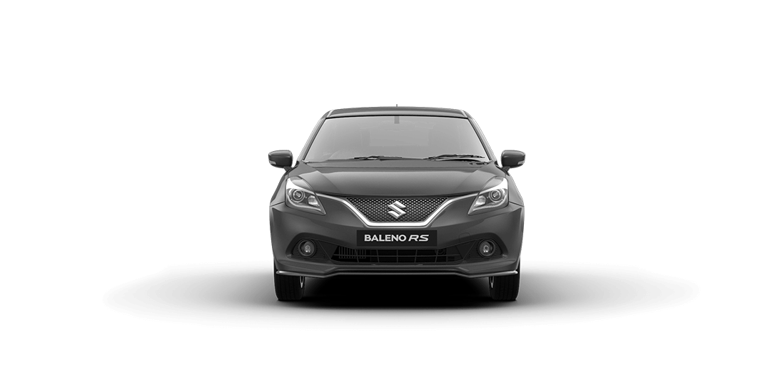 Baleno RS Grey Car Front View