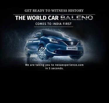 Baleno car comes to India first